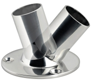 Boat Handrail 25mm Tube Fitting Adjustable Angle Round Base Polished Stainless