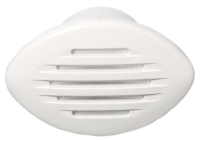 Horn Flush Mounted White 110 x 85mm 12 Volt