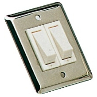 Wall Rocker Switch Size 51 x 64mm Double Stainless