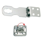 Hasp & Staple 70mm Polished Stainless Steel