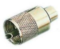 LP25 VHF Plug (Male) RG 58 Adapter for RG 213