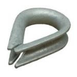 1'' ( 25mm ) Galvanised Thimble Heart Shape