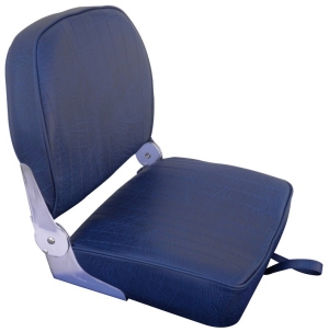 Boat Seat Navy Blue Folding Back