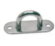 Pad Eye 6mm Bar 2 Hole Plate 316 Stainless Steel