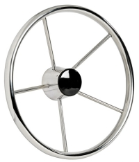 Mirror polished 5 spokes Polished Stainless Steel steering wheels 420mm