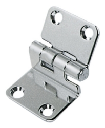 Stepped Hinge 15mm Step 37 x 28 + 29mm 2mm Thick Stainless Steel
