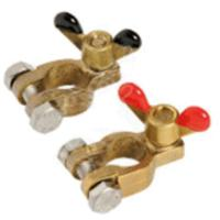Battery Clamp Set Bronze with Wing Nuts