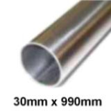 Boat Handrail Tube 30mm x 990mm Polished Stainless Steel