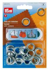 Eyelets Nickel Plated Brass 8mm Pack of 24 with Tool