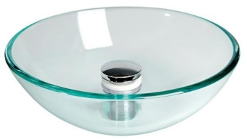 Hand Basin 420mm Transparent Round Glass