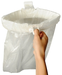 Waste Bag Holder with Snap Close to Seal