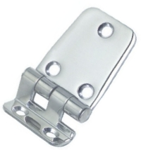 Stepped Hinge 10mm Step 37 x 49 + 18.5mm 2mm Thick Stainless Steel